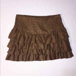 H&M Ruffled Skater Flare Skirt Circle Print